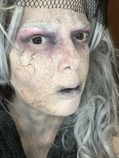 Ghost makeup by me Halloween 2017, Halloween Make Up, Halloween Themes, Halloween Face Makeup, Ghost Makeup, Horror Makeup, Extreme Makeup, Ghost Faces, Creative Makeup Looks