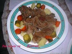 Να λείπει το ... βύσσινο!: Κρεατόσουπα με λαχανικά! Meat Recipes, Beef, Food, Meat, Essen, Ox, Ground Beef, Yemek, Steak