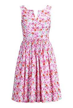 eShakti Women's Floral splash notch neck dress XS-0 Short Pink/fuchsia/orange eShakti http://www.amazon.com/dp/B00LFJSFFC/ref=cm_sw_r_pi_dp_r8N7tb14CWPGK