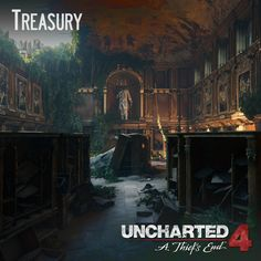 Uncharted 4 - Treasury, Andres Rodriguez on ArtStation at https://www.artstation.com/artwork/vZk4D