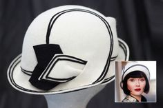 """Post post on her Phryne Christmas headband brooch I found that """" Gareth Blaha creates Phryne's more outrageous """"fluffy, frou frou"""" headwear"""". The felt hats are by Mandy Murphy. Fishers Hat, Style Année 20, 1920s Hats, Classic Hats, Millinery Hats, Mode Chic, Fancy Hats, Murder Mysteries, Love Hat"""