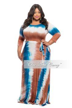 New Plus Size Tie Dye White,, Orange, and Yellow Maxi Dress ...