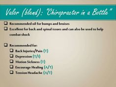 """Valor: """"Chiropractor in a Bottle"""""""