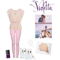 violetta en leon seizoen 3 by violettafan13 on Polyvore featuring mode, Replay, Topshop, Giuseppe Zanotti, ASOS, BERRICLE, MSGM, NARS Cosmetics, women's clothing and women's fashion