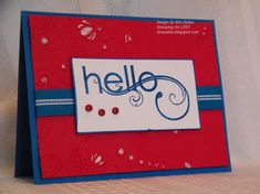 Clean and Simple Hello by berlycece - Cards and Paper Crafts at Splitcoaststampers