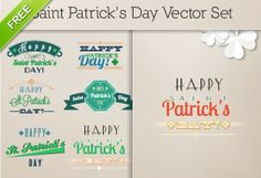 St. Patrick's Day Vector Elements