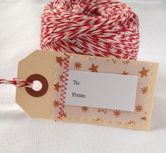 "5 To/From Gift Tags Christmas Holiday Star - 3 1/4"" x 1 5/8"""