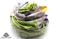 Tuch Loopschal beige grün blau - ein Lieblingsstück aus der Lieblingsmanufaktur