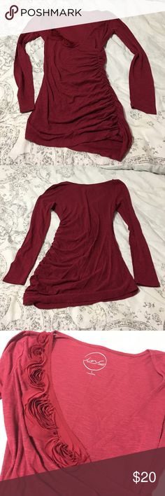 Shirt Long sleeve shirt, with flowers. Never worn. INC Tops Tees - Long Sleeve
