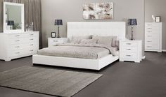 Alexa King size bed in Genuine leather