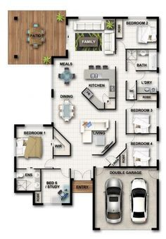 Well this is a nifty floorplan Sims House Plans, House Layout Plans, Dream House Plans, Modern House Plans, House Layouts, House Floor Plans, Sims House Design, Small House Design, House Construction Plan