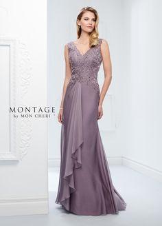 1b22c3e39bf Two-Tone Chiffon   Lace A-Line Gown- Montage by Mon Cheri 117909