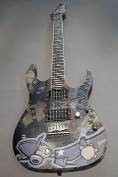 Mike Shinoda Custom Ibanez Guitar: Faint