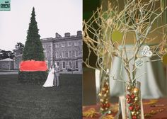 Christmas wedding at Carton House www.couple.ie Christmas Wedding, Couple Photography, Ladder Decor, Weddings, Table Decorations, Couples, House, Home Decor, Decoration Home
