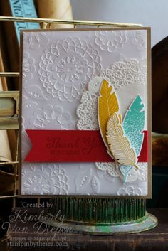 Four Feathers stamp set, Stampin' Up! - StampinByTheSea.com Kimberly Van Diepen