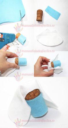 materiales fieltro de diversos colores de 1 mm corchos de vino y champagne