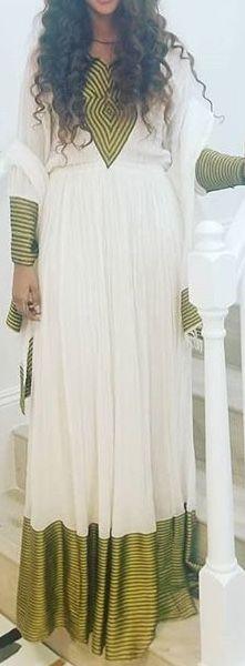 Habesha Kemis, Eritrean, Ethiopian People, Ethiopian Traditional Dress, Ethiopian Dress, Traditional Clothes, African Fashion, Cloths, Beautiful People