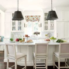Suzanne Kasler White Kitchen Makeover
