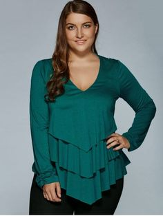 GET $50 NOW   Join RoseGal: Get YOUR $50 NOW!http://www.rosegal.com/plus-size-tops/plus-size-layered-blouse-797029.html?seid=6833286rg797029