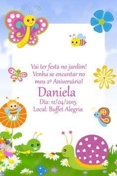 Convite digital personalizado Jardim Encantado 001