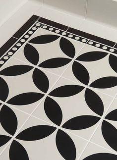 Quot Bertie Quot Black Amp White Floor Tiles Tons Of Tiles