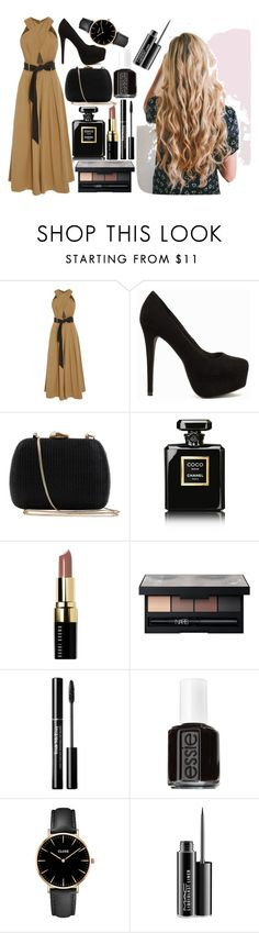 """Unbenannt #589"" by bilge-oytun ❤ liked on Polyvore featuring Temperley London, Nly Shoes, Serpui, Chanel, Bobbi Brown Cosmetics, NARS Cosmetics, Essie, CLUSE and MAC Cosmetics"