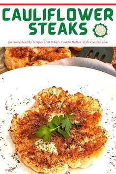 Delicious cauliflower seasoned with 3 different cooking methods and several topping suggestions step by step instructions! Healthy Vegetable Recipes, Healthy Crockpot Recipes, Vegan Recipes Easy, Amazing Recipes, Lunch Recipes, Dinner Recipes, Food Dishes, Food Food, Side Dishes