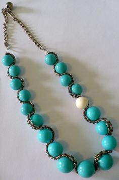 Anthropologie-Inspired Bead and Chain Necklace.
