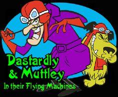 Dastardly and Muttley a funny hanna barbera cartoon