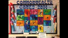 Commonwealth Glasgow 2014 wall display