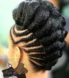 Classic Twist Braids have existed for decades but, due to innovation and variation upon the style, getting Twist Braids remains one of the most exciting and on-trend things that you can do with you… Natural Hair Updo, Natural Hair Journey, Natural Hair Styles, African Hairstyles, Afro Hairstyles, Natural Updo Hairstyles, Wedding Hairstyles, Twist Braids, Flat Twist Updo