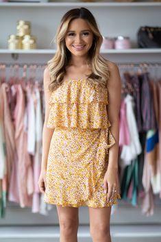 68241ae61c8d Yellow Floral Dress. Hazel   Olive