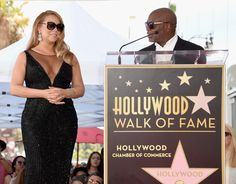 Mariah Carey Photos - Singer Mariah Carey (L), with Chairman and CEO, Epic Records, L.A. Reid, is honored with Star on The Hollywood Walk of Fame on August 5, 2015 in Hollywood, California. - Mariah Carey Honored With Star on the Hollywood Walk of Fame