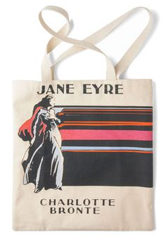 Bookshelf Bandit Tote in Jane, #ModCloth. - I'm pretty sure this was made for me...