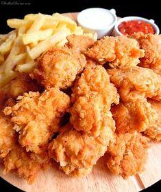 Domowe Bites jak z KFC - Przepis - Słodka Strona Mcdonalds Recipes, Kfc Chicken Recipe, Fast Food, Food Cravings, Food Design, Food Videos, Love Food, Street Food, Food Porn