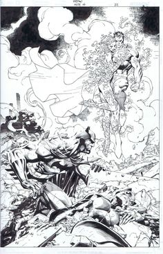 Batman Hush 611 splash, in Scott Williams's Jim Lee Comic Art Gallery Room - 901789
