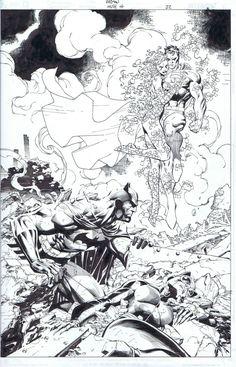 Batman Hush 611 splash, in ScottWilliams's Jim Lee Comic Art Gallery Room - 901789