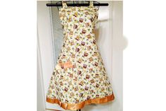 Hooty hoot owl Ladies Full Bib Apron by SpicyAprons on Etsy