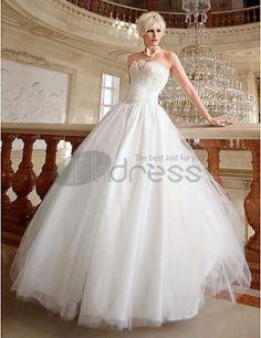 Wedding Dresses 2013-Sweetheart Floor-length Organza Wedding Gown