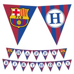 Barcelona Happy Birthday Banner . . . #barcelona #banner #birthday #deco #party Happy Birthday Football, Soccer Birthday, Birthday Parties, Printable Banner, Printables, Barcelona Party, Barcelona Cake, Online Print Shop, As You Like