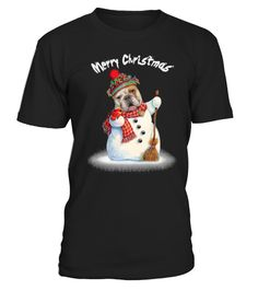 """# Bulldog Merry Christmas T shirt .  Special Offer, not available anywhere else!Available in a variety of styles and colorsBuy yours now before it is too late!Secured payment via Visa / Mastercard / Amex / PayPalHow to place an order Choose the model from the drop-down menu Click on """"Reserve it now"""" Choose the size and the quantity Add your delivery address and bank details And that's it!"""