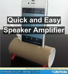 Smart Phones - Quick and Easy Speaker Amplifier  - #conseil #astuces #iPhone #tricks  - www.justiphone.fr
