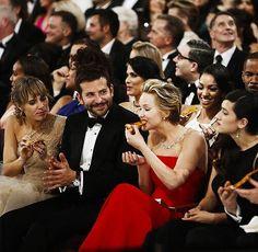 Jennifer Lawerence and pizza