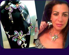 ABALONE Parure filigrané florale : Parure par camelys-bijoux