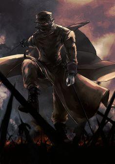 Hans Günsche (The Silent Captain) Hellsing Alucard, Best Anime Shows, Chinese Cartoon, Fanart, Cartoon Fan, Anime Weapons, Cool Animations, Concept Art, Anime Art
