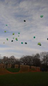 2012 , releasing balloons again, miss you charlie