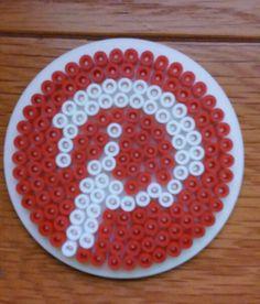 Pintrest icon coaster using hobbycraft branded beads