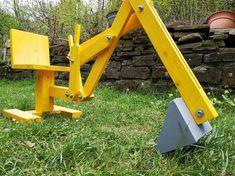 Sandkastenbagger aus Holz Bauanleitung zum selber bauen