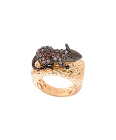 Look at this Simulated Brown Zircon & Gold Mouse Ring on #zulily today!