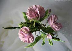 """Купить """"АВГУСТ-LIGHT"""" - бледно-сиреневый, лето, душистый горошек, горошек, шелковые цветы, цветы"""